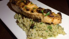 Slow-baked salmon at Bacaro L.A.